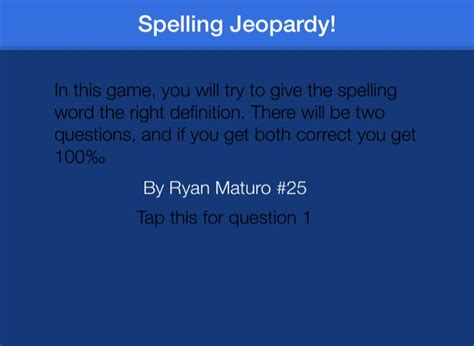 Spelling Jeopardy On Flowvella Presentation Software For Jeopardy For Mac