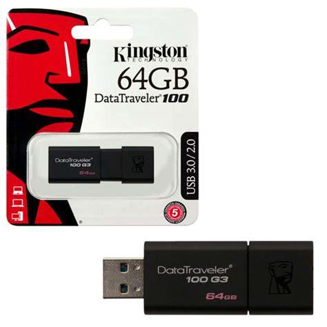Memory V 64gb kingston datatraveler 100 g3 usb 3 0 flash drive 64gb 7dayshop