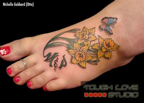 daffodil tattoos 30 lovely and peaceful daffodil designs