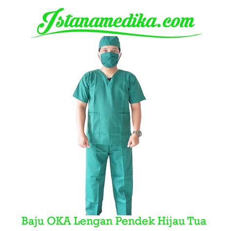 Baju Oka Operasi baju oka lengan pendek hijau tua istana medika