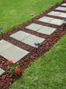 Backyard Walkway Ideas Diy Paver Rock Walkway Diy Homedecor Decor Decorate Decorations Walkways Rocks Pavers
