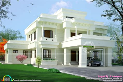 elegant home plans elegant looking modern home architecture kerala home design and floor plans