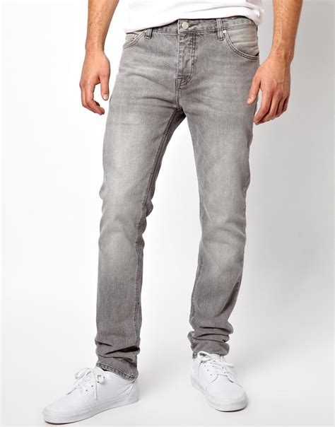 light gray jeans mens mens grey skinny jeans bbg clothing