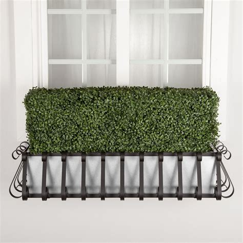 Hedge In Planter Boxes by Outdoor Artificial Boxwood Hedges In Planter Boxes Hooks