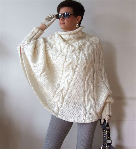 knitted poncho knitted poncho braided cape sweaterfall fashion cabled