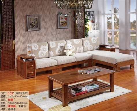 L Shaped Living Room Furniture 2016 New L Shaped Sofa Chaise Chor Wood Living Room Furniture 103 Leisure