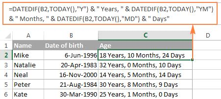 format date of birth in excel excel date format formula ms excel 2003 automatically