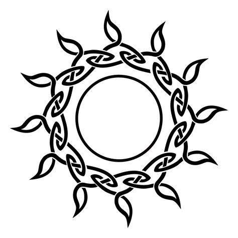 celtic circle sun and moon tattoos on chest real photo