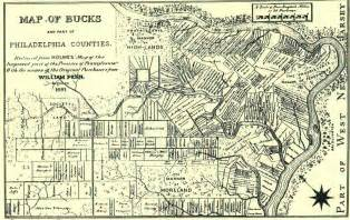 Credit from a history of bucks county 1876 a map of bucks county based