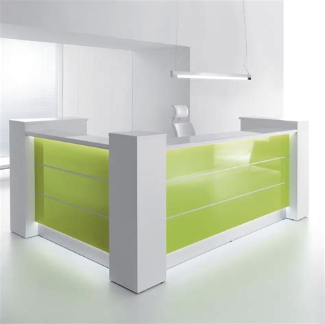 White Gloss Desk Valde Reception Desks Reception Counters London Essex