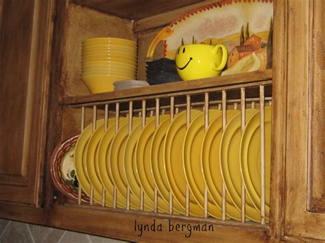plate rack kitchen cabinet lynda bergman decorative artisan how to build install a
