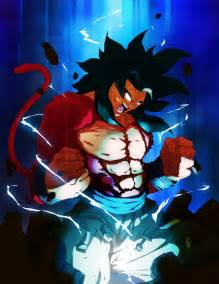 goku ssj4 color commission toviorogers deviantart