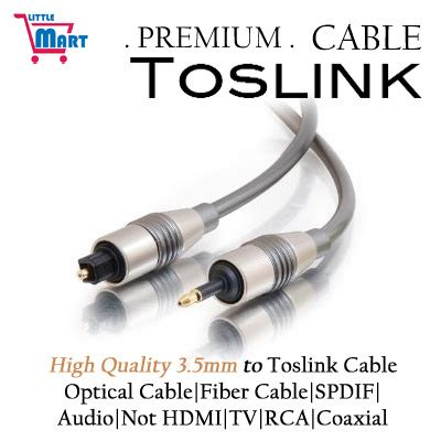 Toslink Paket With Fiber Cable Digital Optical Coax To Analog Rca L R qoo10 high quality 3 5mm to toslink cable optical cable fiber cable spdif au tv