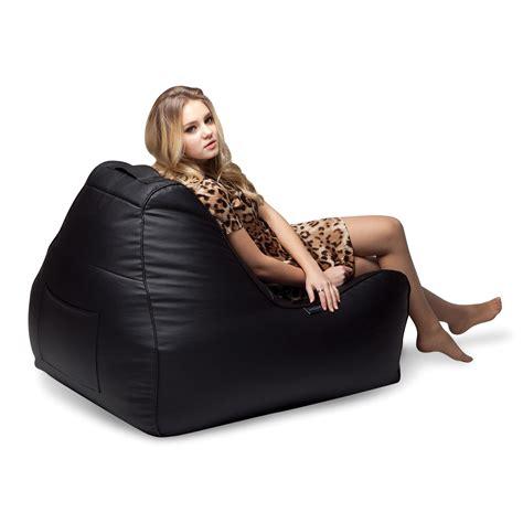ambiente lounge classic nero lounger bean bag chair tivoli lounger bean