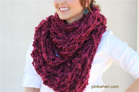 diy arm knitting infinity scarf arm knitting diy infinity scarf tutorial pinkwhen