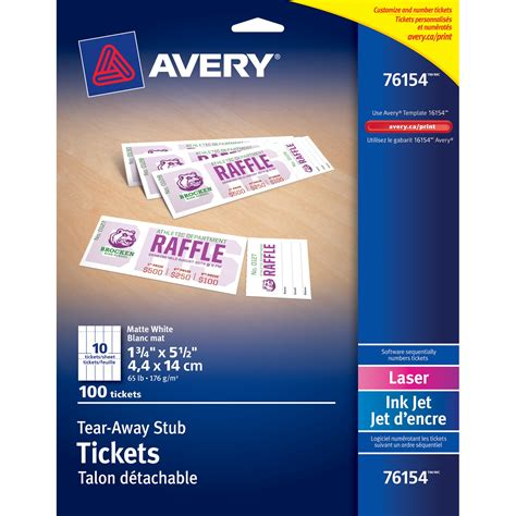 7 best images of avery printable event tickets avery
