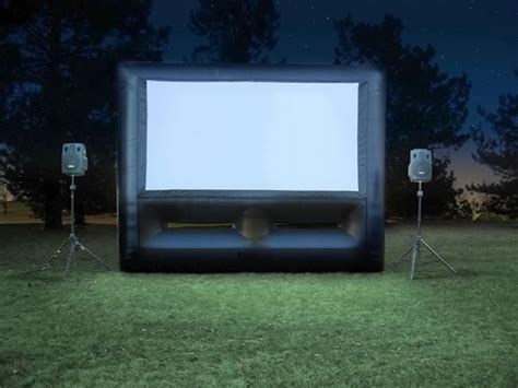 backyard movie projector rental inflatable screen rentals