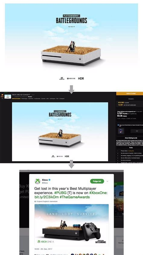 pubg xbox one x reddit microsoft removes pubg advertisement with plagiarized artwork