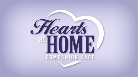 hearts at home companion care logo design portfolio