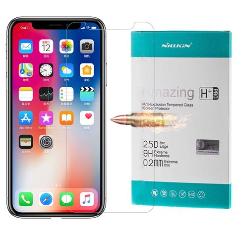 Tempered Glass Nillkin Iphone X Amazing H 1 nillkin amazing h pro agc ultra thin tempered glass 0 2 mm 9h 2 5d for iphone x hurtel pl