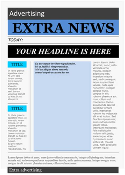 newspaper template for word printable school newspaper templates