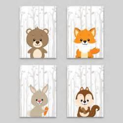 Kinderzimmer Bilder Tiere by Bild Set Wald Tiere Kunstdruck A4 B 228 R Fuchs Hase
