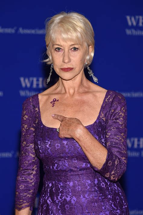 is helen mirren s prince tattoo real the symbol was a