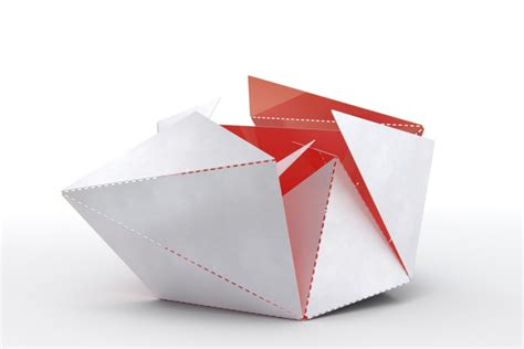 Paper Folding Design - folding l by hick 187 retail design
