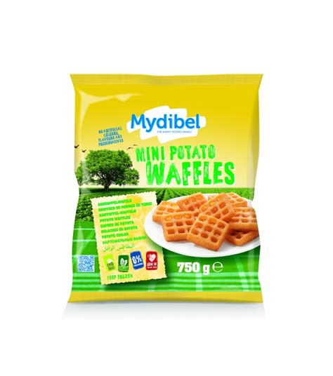 Mydibel Waffles Potato Kentang 750 mini potato waffles mydibel