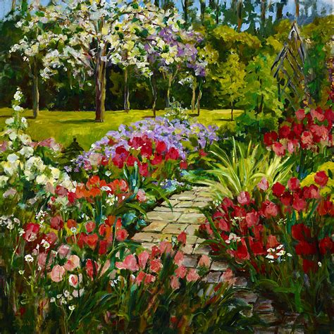 Summer Flower Garden By Alexandra Maria Ethlyn Cheshire Summer Garden Flowers