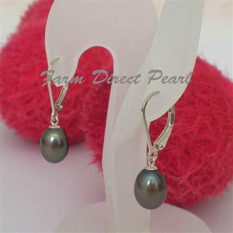 Kalung Premium Pendant 8 9mm 100 Freshwater Pearl genuine freshwater black pearl dangle drop earrings sterling silver leverback ebay