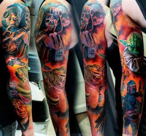 star wars sleeve tattoo pinterest