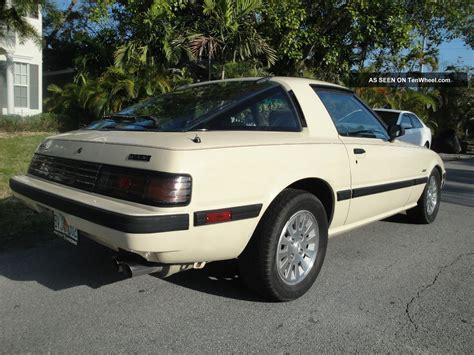mazda 1985 rx7 1985 mazda rx 7 gsl se 13b coupe 2 door 1 3l