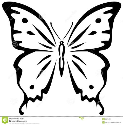 butterfly stencil stock vector image of summertime