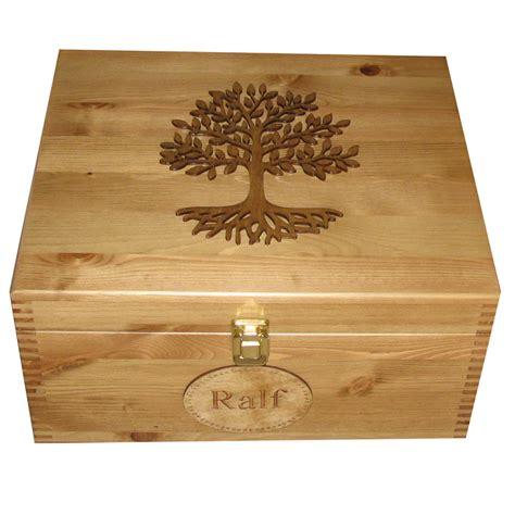 large lockable family keepsake boxes personalised wooden