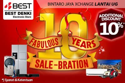 best denki new year promotion bintaro jaya xchange events promotion
