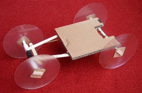 Rubber band powered car diy family