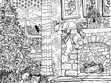 coloring pages christmas detailed christmas coloring page by melanie76 on deviantart