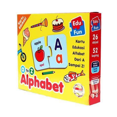 Puzzle Edukasi Alphabeth by Jual Edu Kartu Edukasi Alphabet A Z Mainan Edukatif