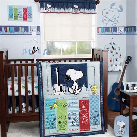 peanuts baby room bedtime originals by lambs hip hop snoopy 3pc crib bedding set value bundle walmart