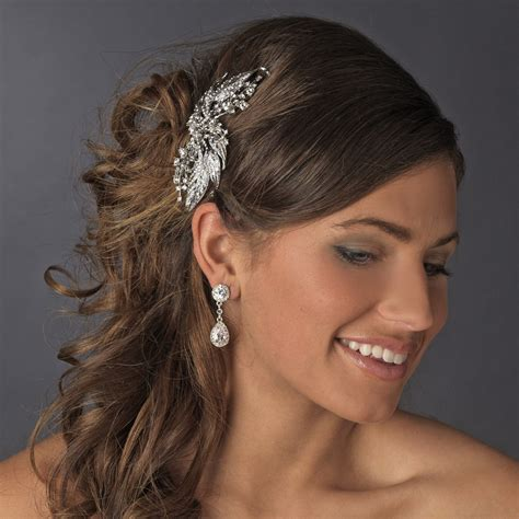 Vintage Bridal Hair Combs by Vintage Bridal Hair Comb 9981 Antique Silver