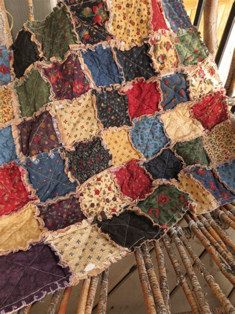 Quilting Fashion by Rustic Cottage Rag Quilt Size Fashioned Winter
