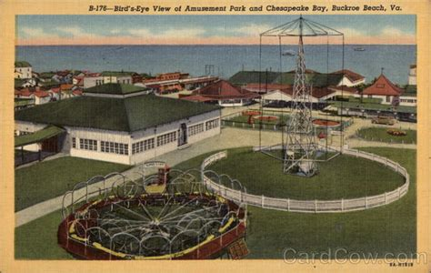 theme park virginia bird s eye view of amusement park and chesapeake bay