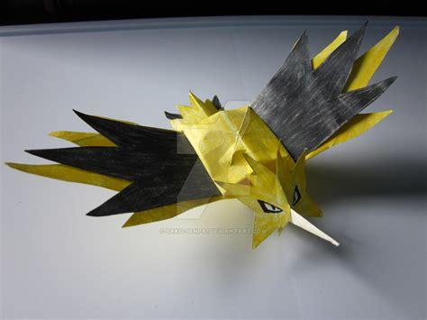 Zapdos Papercraft - zapdos origami by saku senpai on deviantart