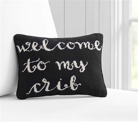 Decorative Crib Pillows by Welcome To Crib Decorative Pillow Pottery Barn
