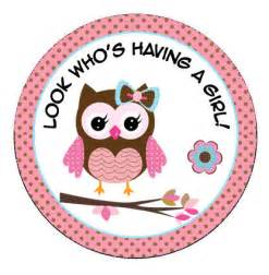 Pink Owl Baby Shower Decorations Personalized 2 5 Or 2 Round Pink Baby Owl By