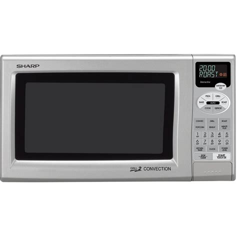 Sharp Convection Microwave Oven Countertop sharp 0 9 cu ft 900w grill 2 compact countertop