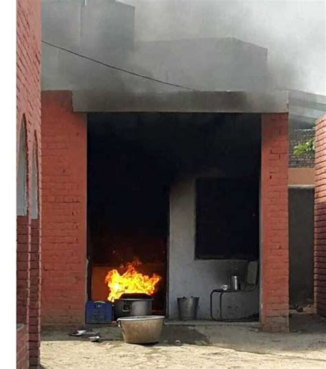 fires in the middle school bathroom tragedy averted lpg cylinder catches fire in school kitchen