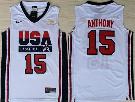 Jersey Basket Usa Hitam 1992 olympics team usa 15 carmelo anthony white swingman jersey on sale for cheap wholesale