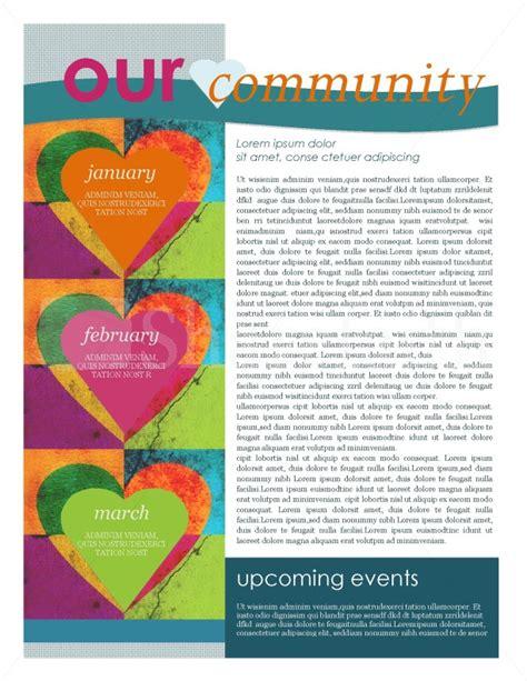 Contemporary Newsletter Template Newsletter Templates Contemporary Newsletter Template